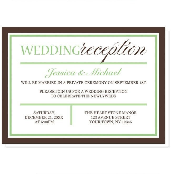 Wedding Reception Invite Templates Best 25 Reception Only Invitations Ideas On Pinterest