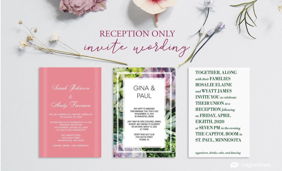 Wedding Reception Invite Templates Reception Ly Invitation Wording