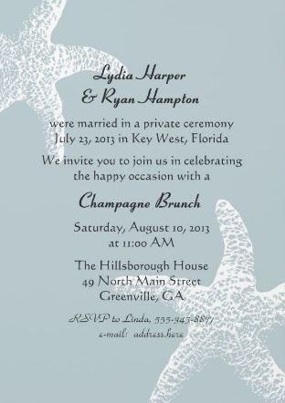 Wedding Reception Invite Templates Simple Wedding Reception Invitation Wording