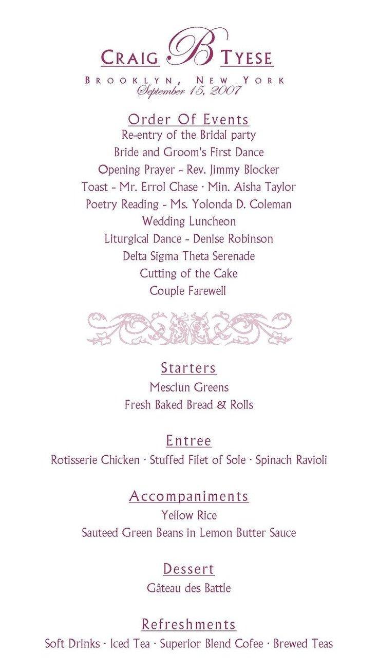 Wedding Reception Program Template Best 25 Wedding Reception Program Ideas On Pinterest