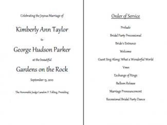 Wedding Reception Program Template Free Wedding Program Templates
