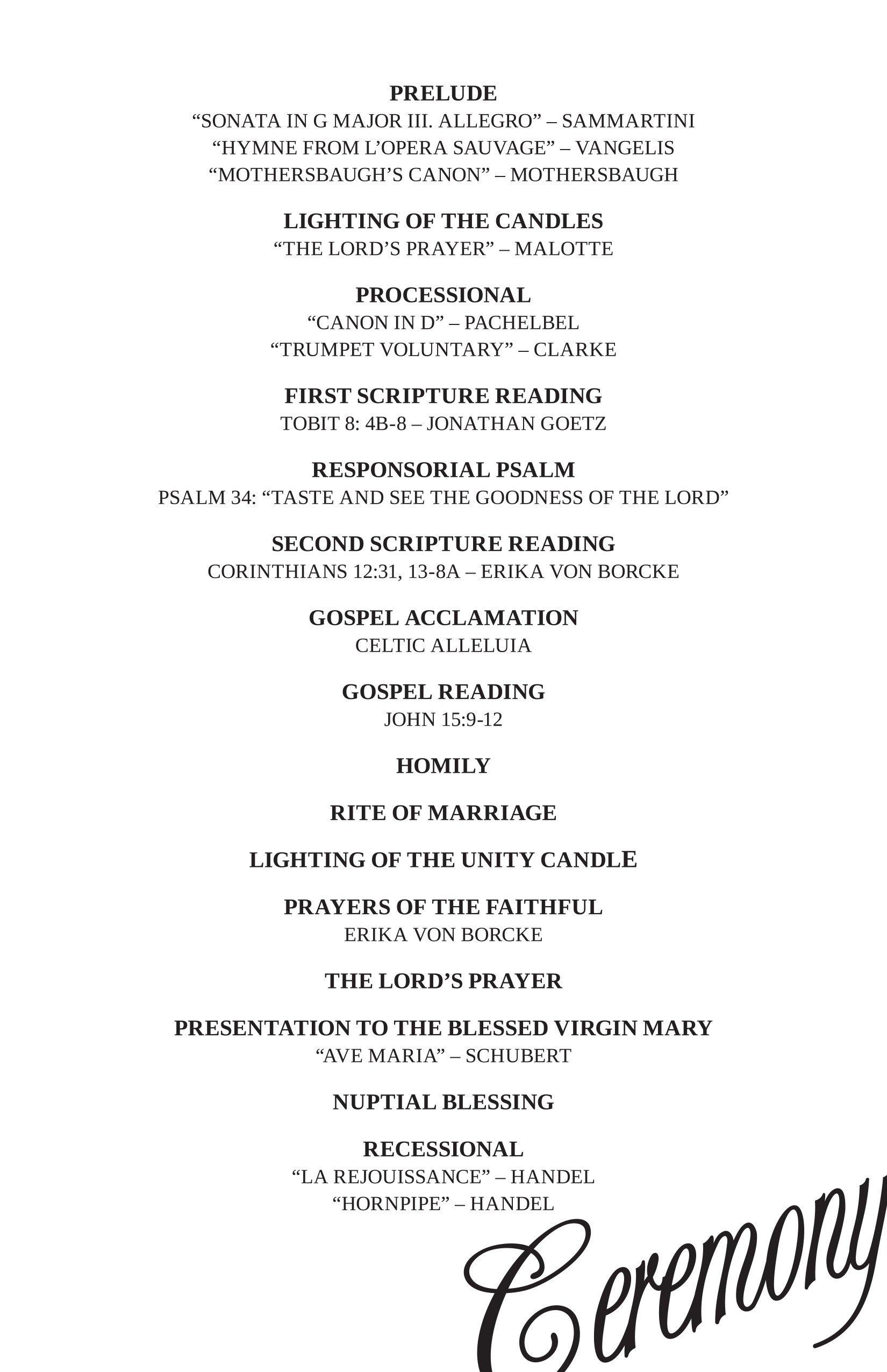 Wedding Reception Program Templates Wedding Reception Program Ideas Wedding Decor Ideas