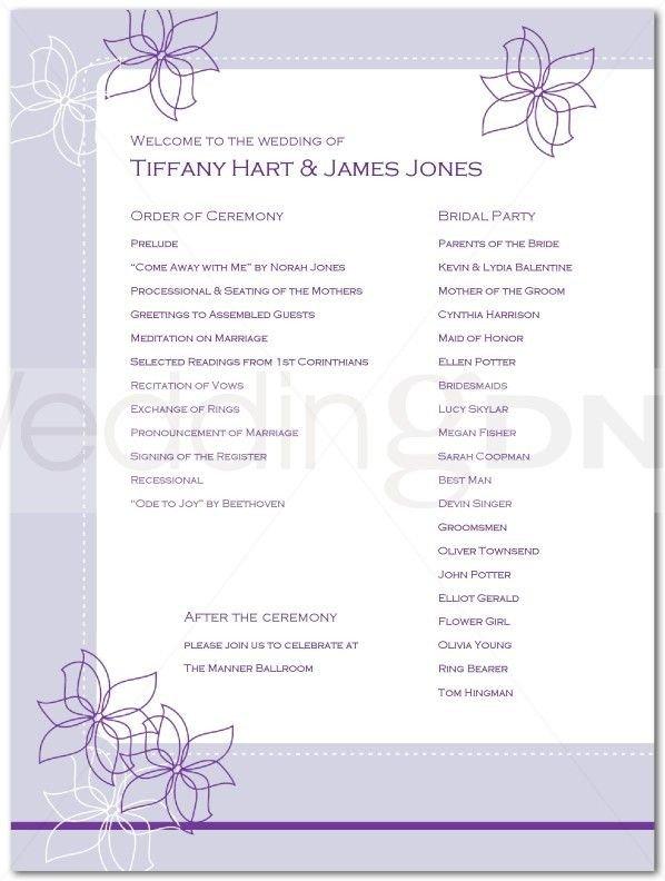 Wedding Reception Programme Template Wedding Reception Program Outline Agenda