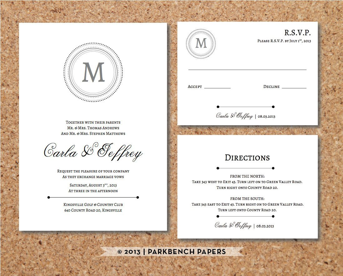 Wedding Rsvp Cards Template Editable Wedding Invitation Rsvp Card and by