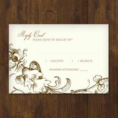 Wedding Rsvp Cards Template Fall Harvest Wedding Rsvp Template – Download & Print