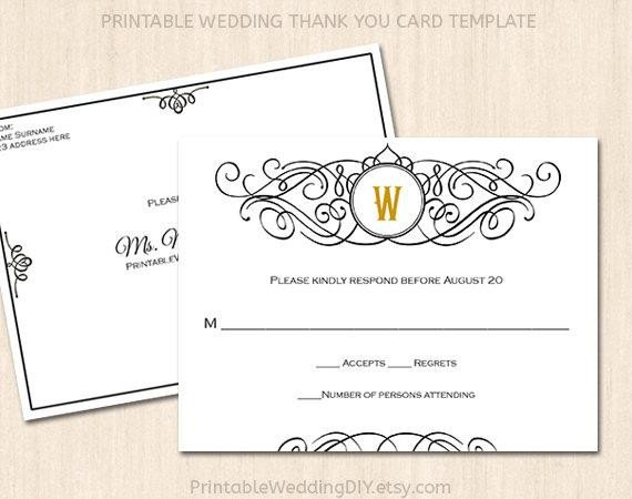 Wedding Rsvp Cards Template Printable Wedding Rsvp Postcard Template Editable Wedding