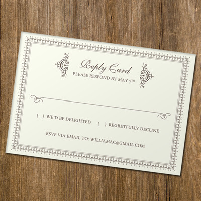 Wedding Rsvp Cards Template Rsvp Card Template with Retro Typography – Download & Print