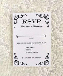 Wedding Rsvp Cards Template Rsvp Cards