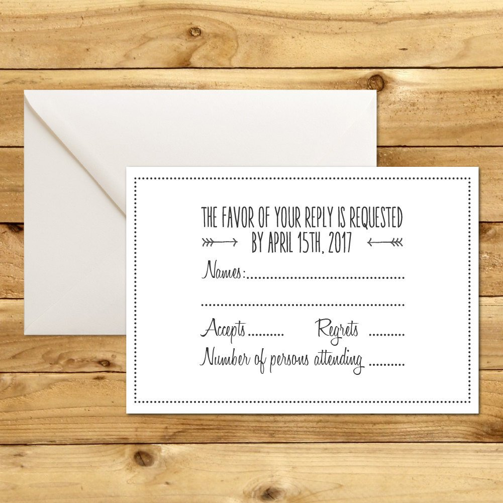 Wedding Rsvp Cards Template Rsvp Diy Wedding Template Rsvp Template Rustic Wedding
