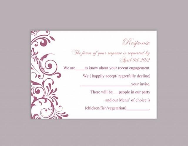 Wedding Rsvp Cards Templates Diy Wedding Rsvp Template Editable Text Word File Download