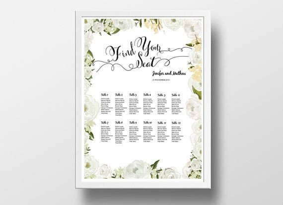 Wedding Seating Chart Poster Templates 12 Best Diy Wedding Seating Chart Poster Templates Images