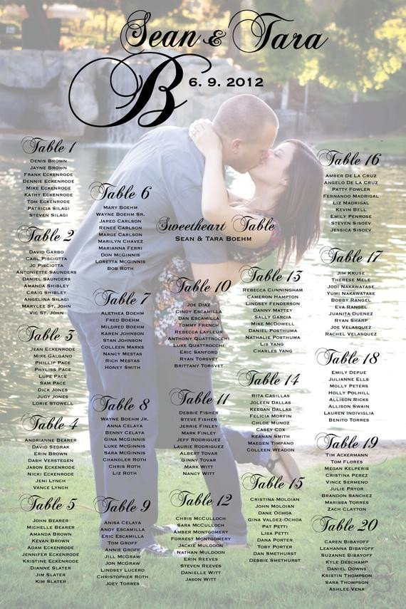 Wedding Seating Chart Poster Templates Unavailable Listing On Etsy