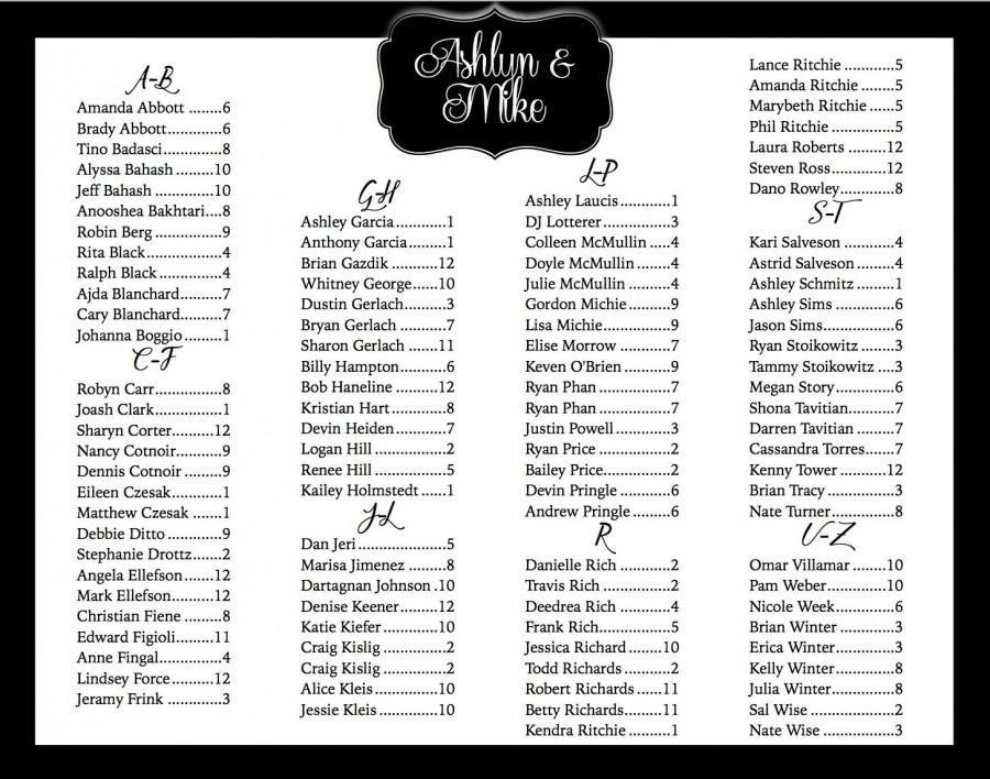 Wedding Seating Chart Poster Templates Wedding Seating Chart Printable Custom Seating Chart
