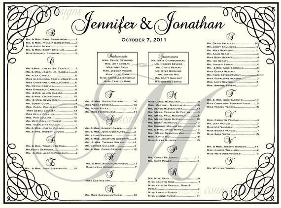 Wedding Seating Chart Poster Templates Wedding Seating Chart Seating Template by Charmingpapershop