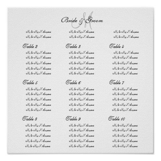 Wedding Seating Chart Poster Templates Wedding Seating Chart Template Create Your Own Poster