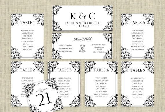 Wedding Seating Chart Template Wedding Seating Chart Template Download Instantly