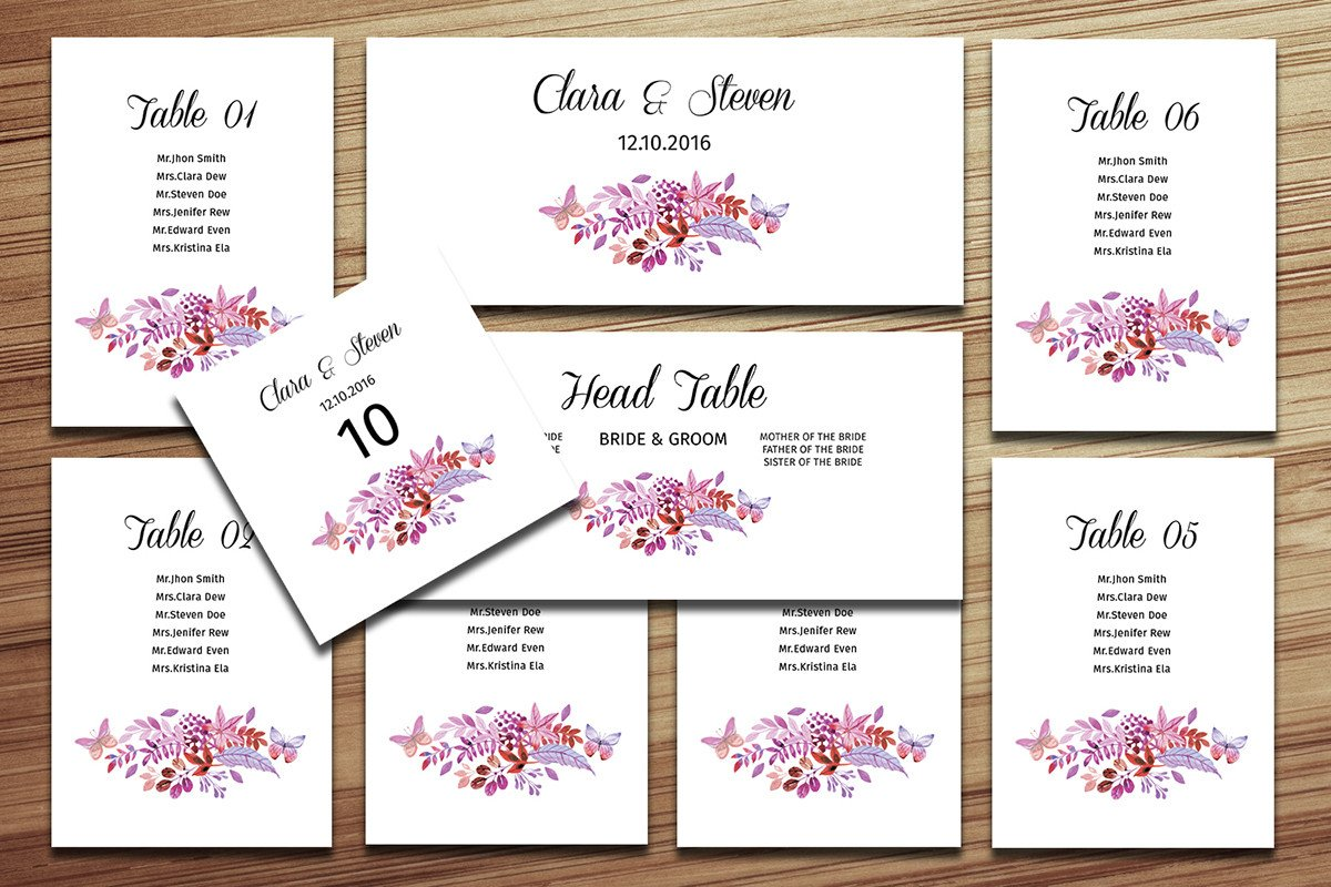 Wedding Seating Chart Template Wedding Seating Chart Template On Behance