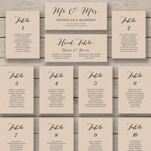 Wedding Seating Chart Template Wedding Seating Chart Template Printable Seating Chart