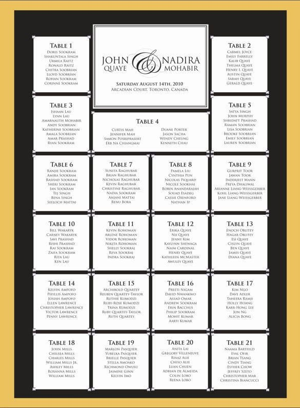 Wedding Seating Chart Template Wedding Seating Chart Template Scrabble
