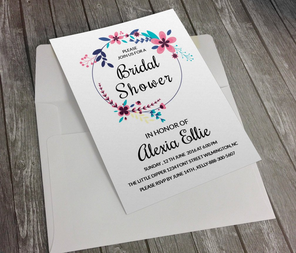 Wedding Shower Invitation Templates Bridal Shower Invitation Template Diy Printable Bridal