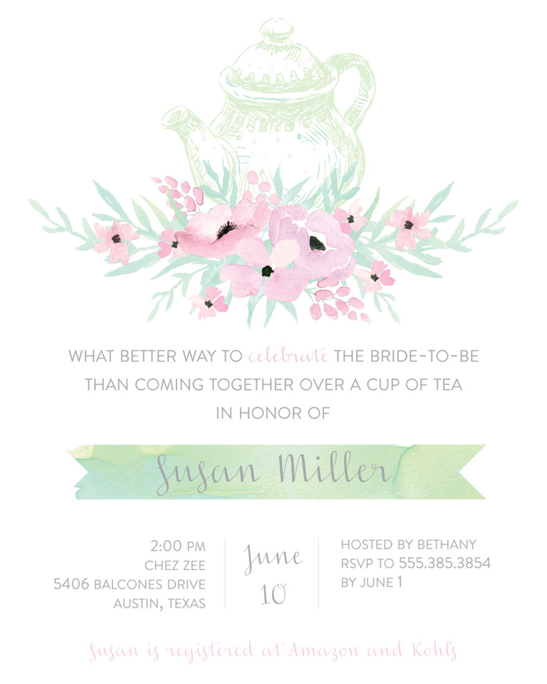 Wedding Shower Invitation Templates Bridal Shower Invitation Wording Ideas and Etiquette