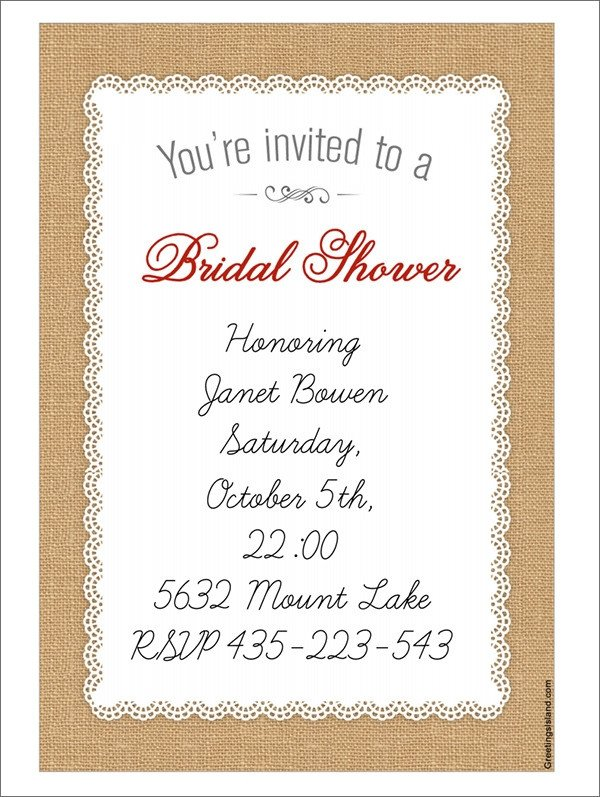 Wedding Shower Invite Template 25 Bridal Shower Invitation Templates Download Free