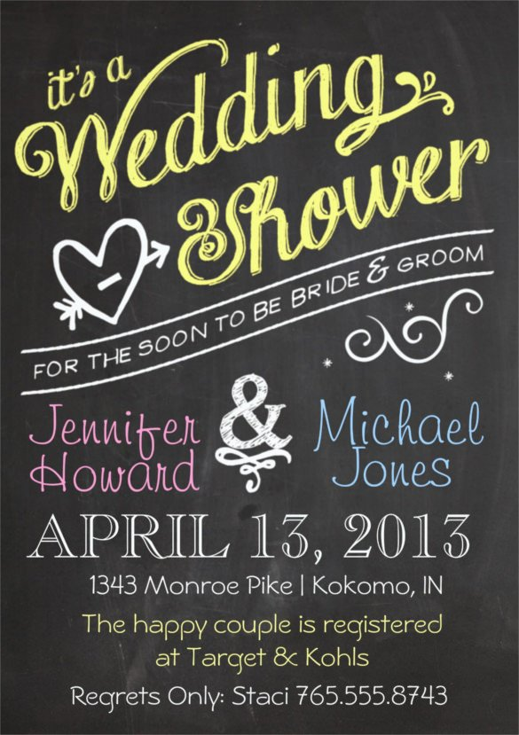 Wedding Shower Invite Template 27 Wedding Shower Invitation Templates – Free Sample
