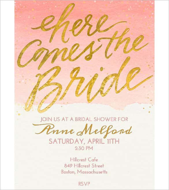 Wedding Shower Invite Template 85 Wedding Invitation Templates Psd Ai