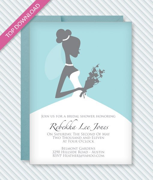Wedding Shower Invite Template Bridal Shower Invitation Template – Download & Print