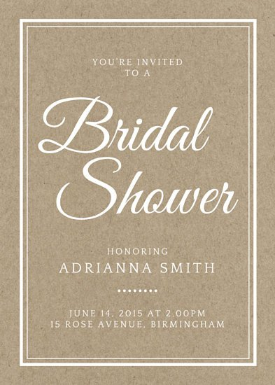 Wedding Shower Invite Template Customize 636 Bridal Shower Invitation Templates Online