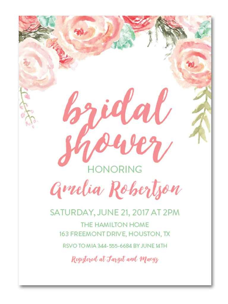 Wedding Shower Invite Template Printable Bridal Shower Invitations You Can Diy