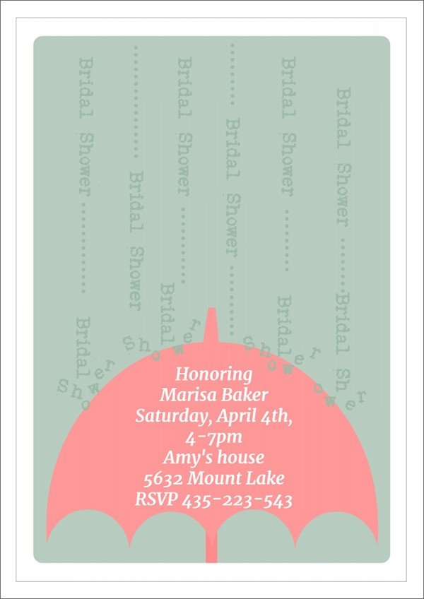 Wedding Shower Invite Templates 25 Bridal Shower Invitation Templates Download Free