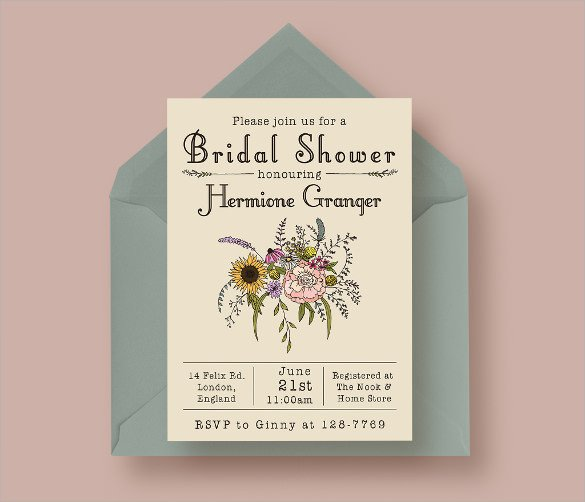 Wedding Shower Invite Templates 33 Best Bridal Shower Invitation Templates Word Psd Ai