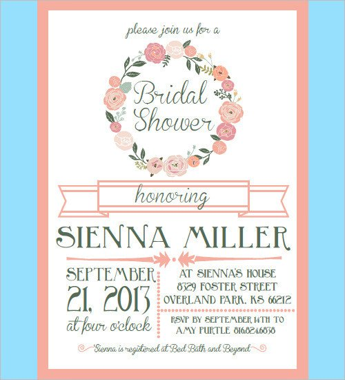 Wedding Shower Invite Templates 33 Psd Bridal Shower Invitations Templates
