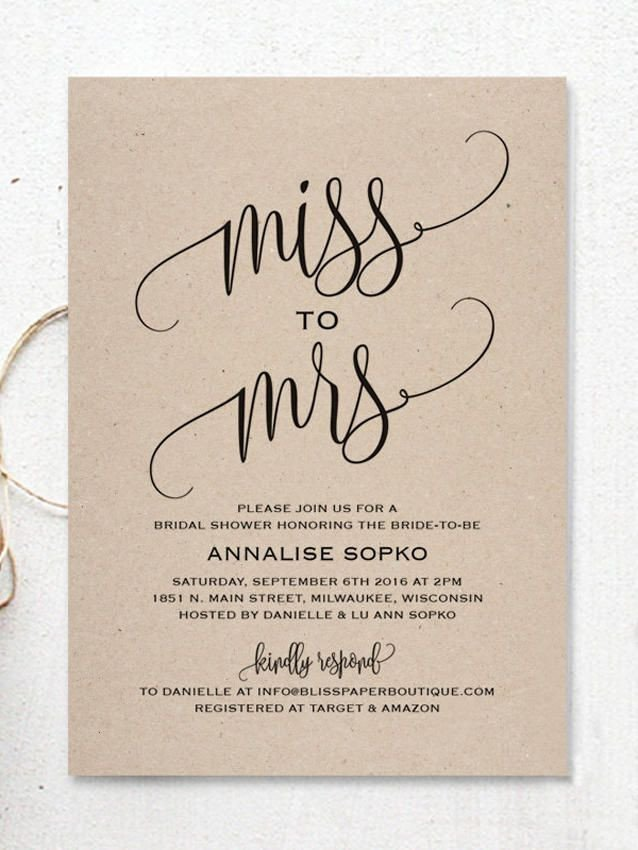 Wedding Shower Invite Templates Best 25 Bridal Shower Invitations Ideas On Pinterest