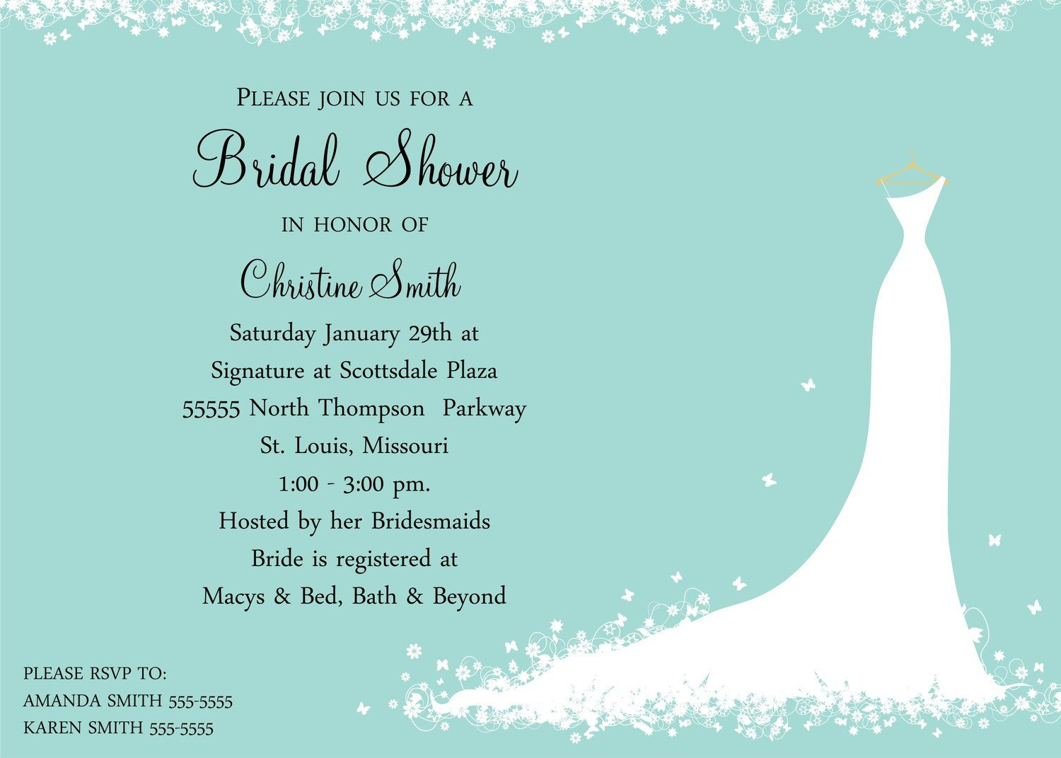 Wedding Shower Invite Templates Bridal Shower Invitation Bride