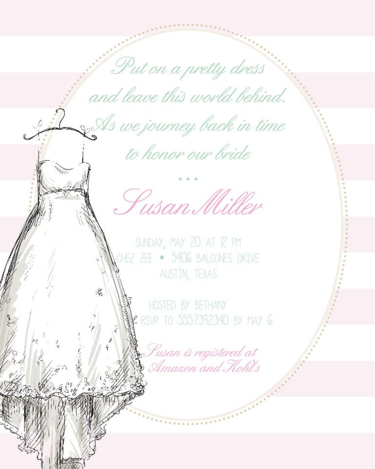 Wedding Shower Invite Templates Bridal Shower Invitation Wording Ideas and Etiquette