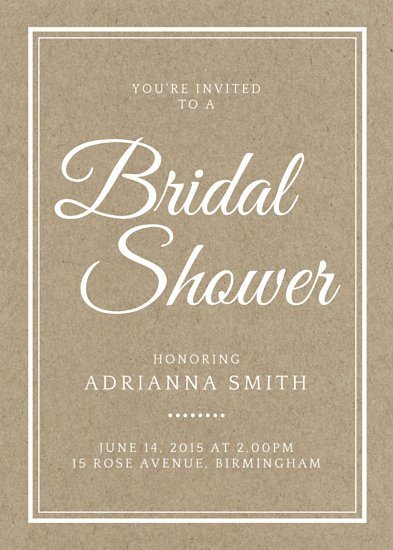 Wedding Shower Invite Templates Customize 636 Bridal Shower Invitation Templates Online
