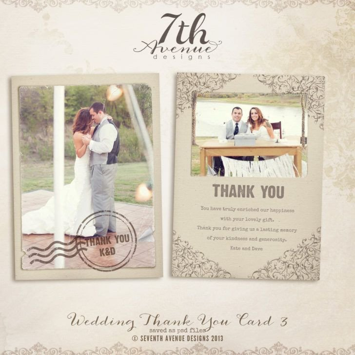 Wedding Thank You Card Template 1000 Ideas About Thank You Card Template On Pinterest