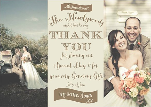 Wedding Thank You Card Template 18 Graphy Thank You Cards Psd Ai