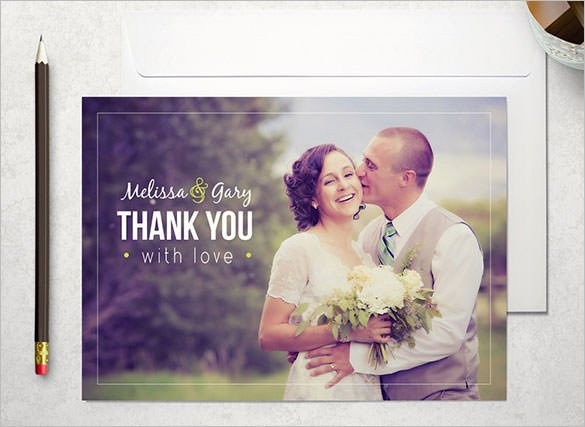 Wedding Thank You Card Template 18 Wedding Thank You Cards Psd Ai Vector Eps