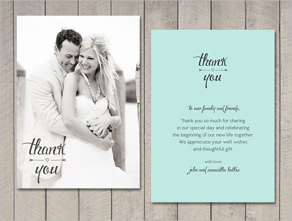 Wedding Thank You Card Template 21 Wedding Thank You Cards – Free Printable Psd Eps