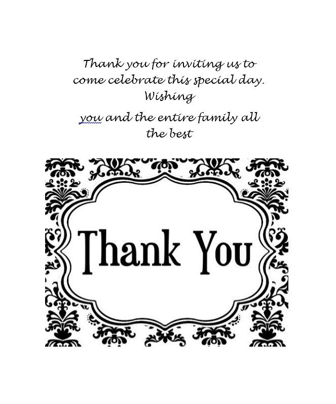 Wedding Thank You Card Template 30 Free Printable Thank You Card Templates Wedding