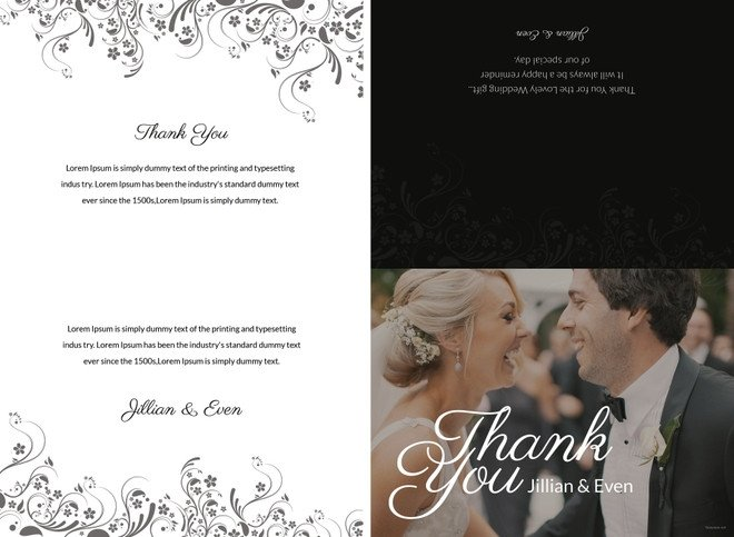 Wedding Thank You Card Template 34 Free Thank You Card Templates Psd Ai Vector Eps
