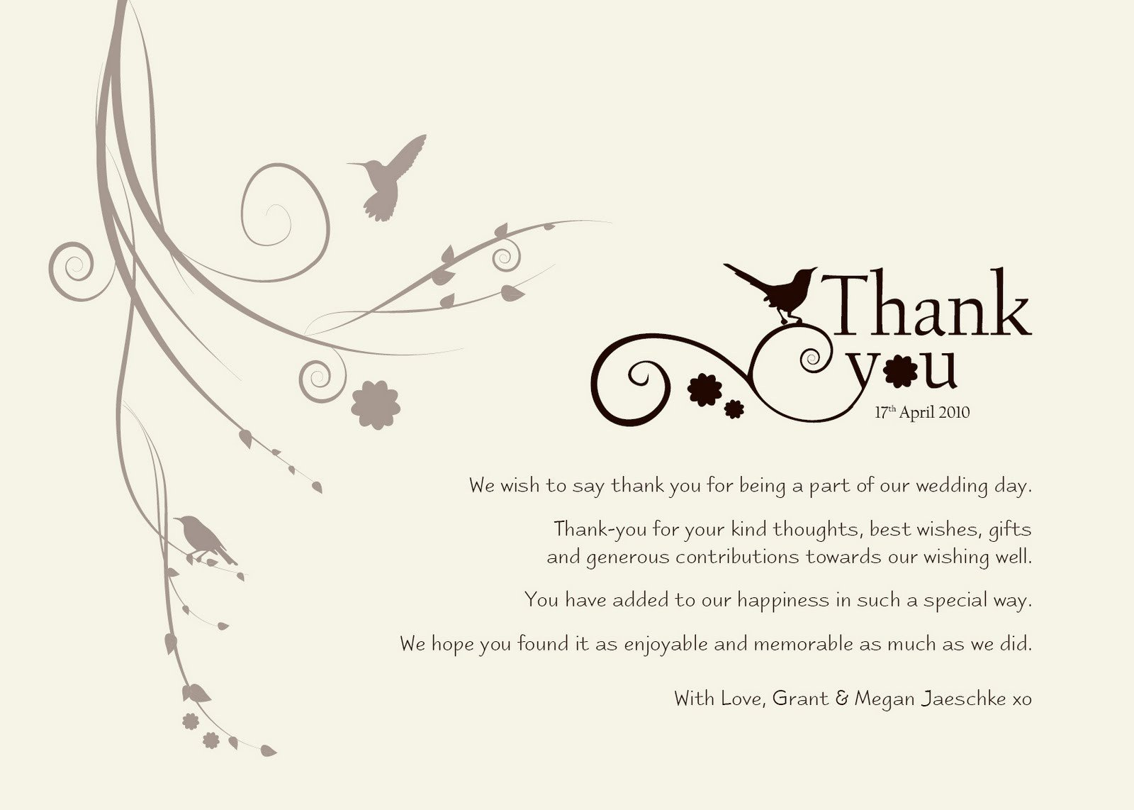 "Wedding Thank You Card Template Damsel Design Wedding ""thank You"" Cards"