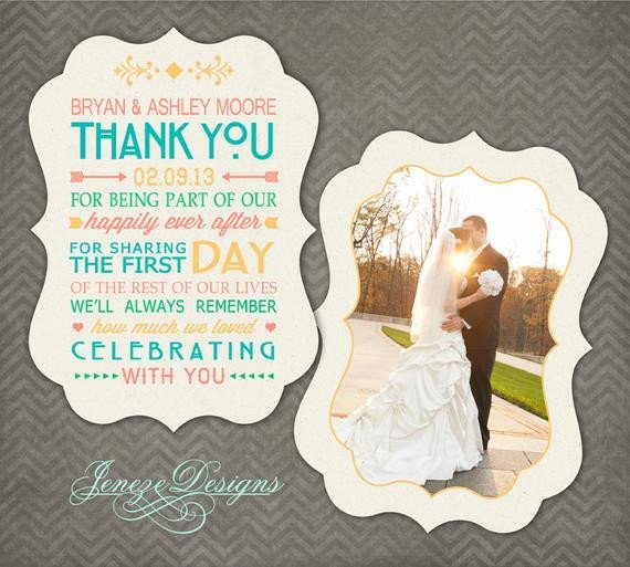 Wedding Thank You Card Template Luxe Wedding Thank You Card Shop Template Item Tc018
