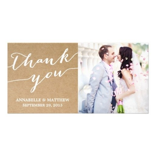 Wedding Thank You Card Template Modern Calligraphy