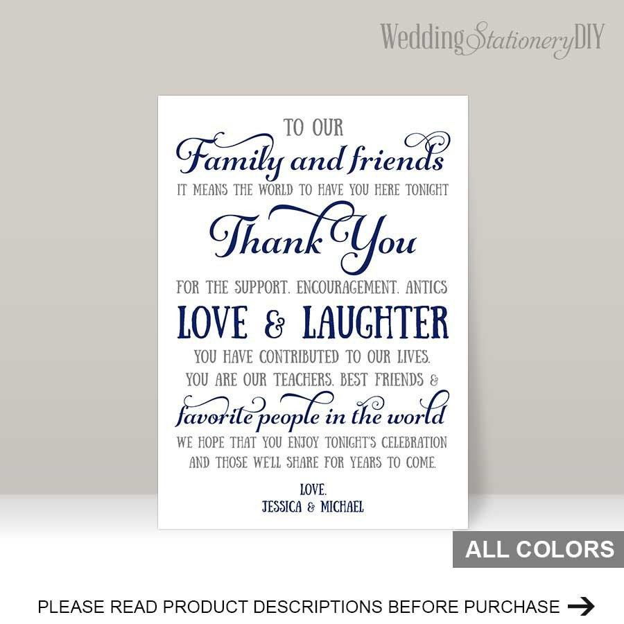 Wedding Thank You Card Template Navy Wedding Reception Thank You Card Templates