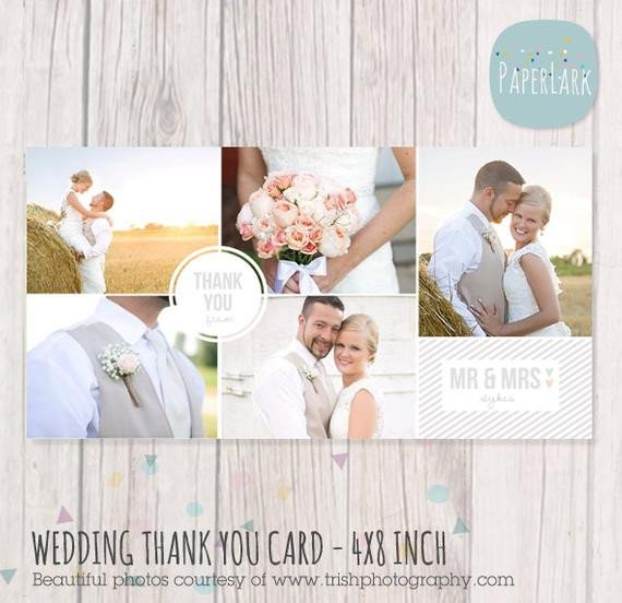 Wedding Thank You Card Template Wedding Thank You Card 4x8 Inch Shop Template Aw013