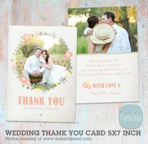 Wedding Thank You Card Template Wedding Thank You Card Shop Template Aw008 Instant